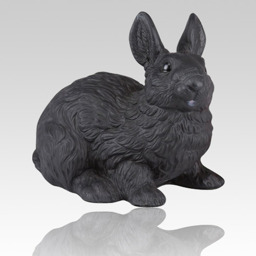 Black Rabbit Cremation Urn