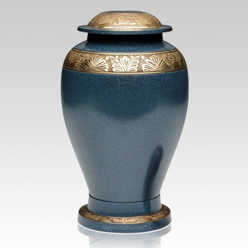 Blue Bloom Cremation Urn