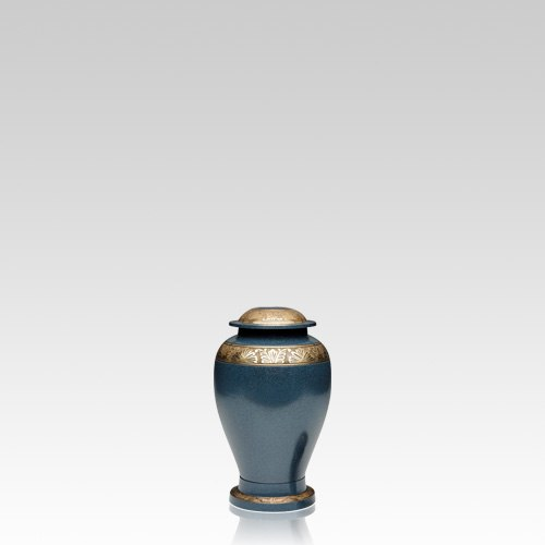 Blue Bloom Keepsake Cremation Urn
