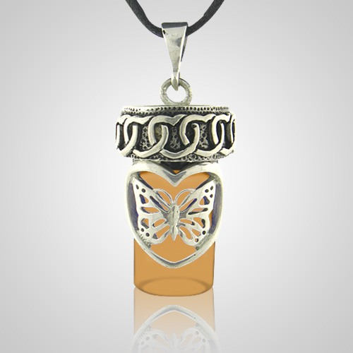 Butterfly Dream Brown Cremation Pendant