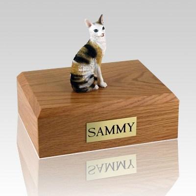 Cornish Rex Tort Cat Cremation Urns
