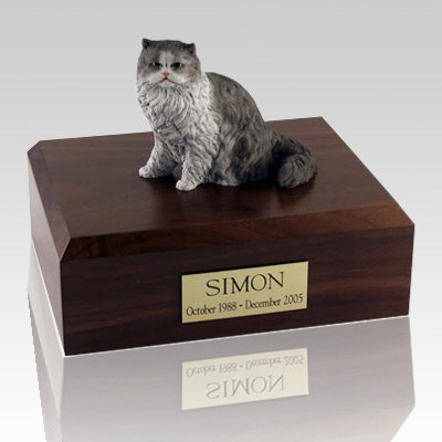 Persian Grey and White Cat Cremation Urns
