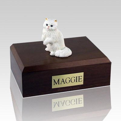 Persian White Paw Cat Cremation Urns