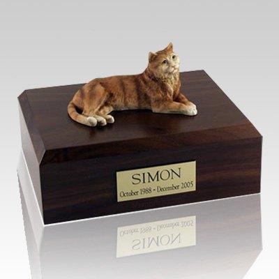 Tabby Orange Cat Cremation Urns