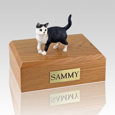 Tabby Standing Cat Cremation Urns