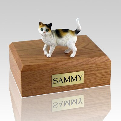 Tri-color Cat Cremation Urns
