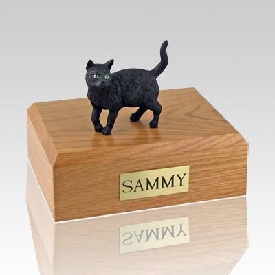 Black Standing Cat Cremation Urns