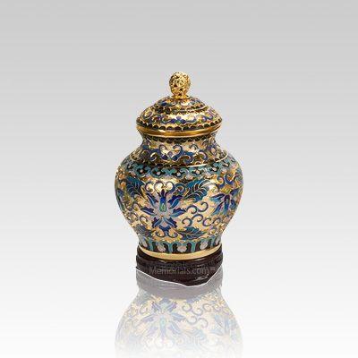 Gold Copper Keepsake Cremation Urn
