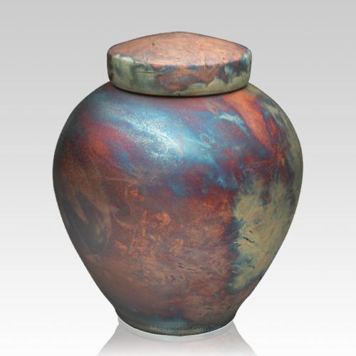 InterRoll Raku Cremation Urn