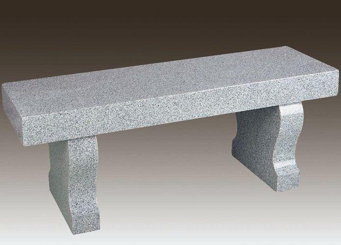 Modern Granite Cemetery Bench - Granite Cemetery Bench