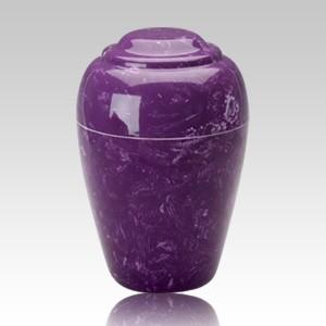 Grecian Amethyst Marble Cremation Urn