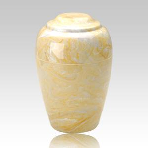 Grecian Gold Marble Cremation Urn