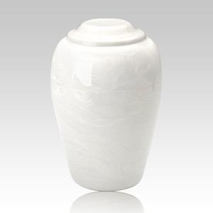 Grecian White Marble Cremation Urn