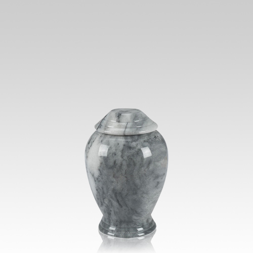 Grey Classica Marble Small Cremation Urn