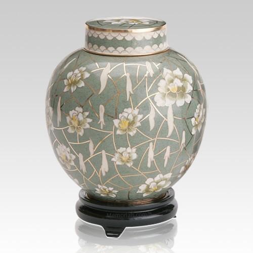 Pear Blossom Large Cloisonne Urn