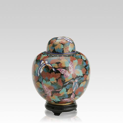 Butterflies Medium Cloisonne Urn