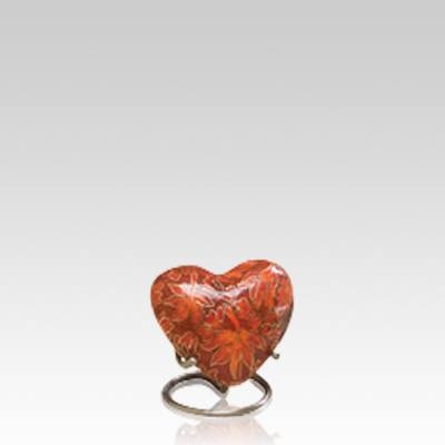 Autumn Splendor Heart Cloisonne Urn