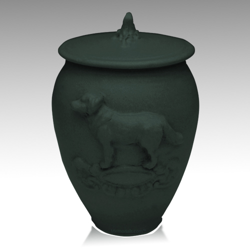 Doggy Stoned Denim Ceramic Cremation Urn