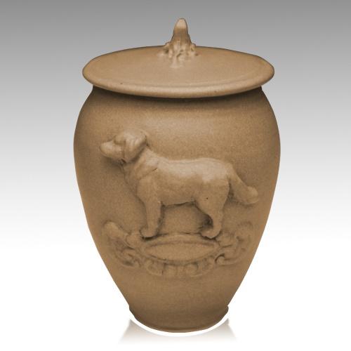 Doggy Pale Apple Ceramic Cremation Urn