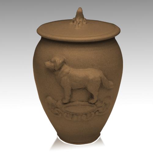 Doggy Moss Black Ceramic Cremation Urn