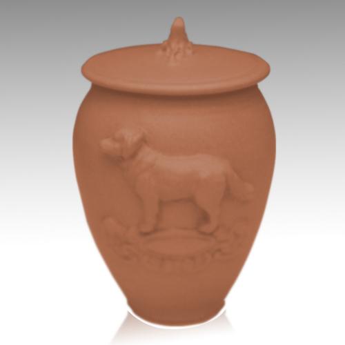 Doggy Nutmeg Ceramic Cremation Urn
