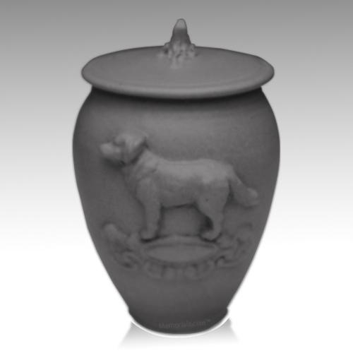 Doggy Powder Blue Ceramic Cremation Urn