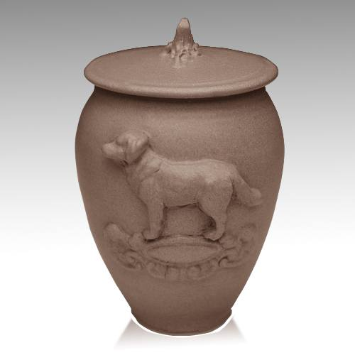 Doggy Black Bronze Ceramic Cremation Urn