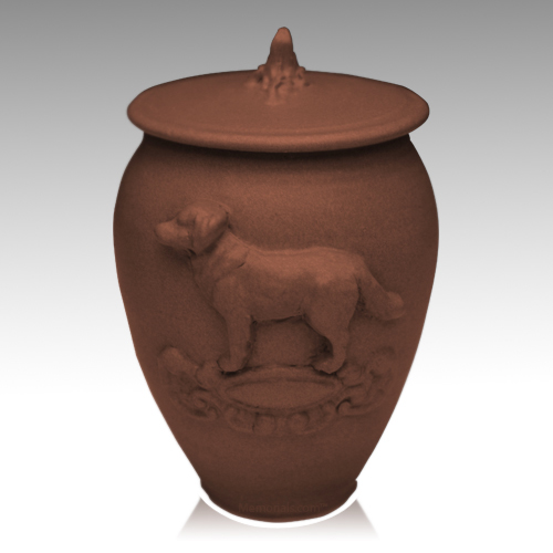 Doggy Ruby Black Ceramic Cremation Urn
