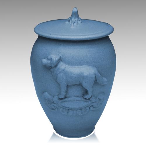 Doggy Cobalt Blue Ceramic Cremation Urn