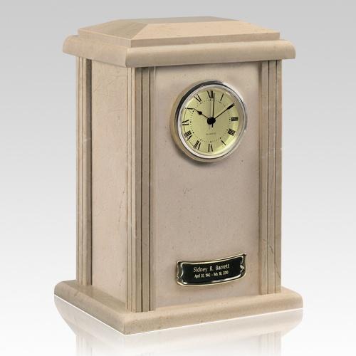 Marble Clock Cream Urn