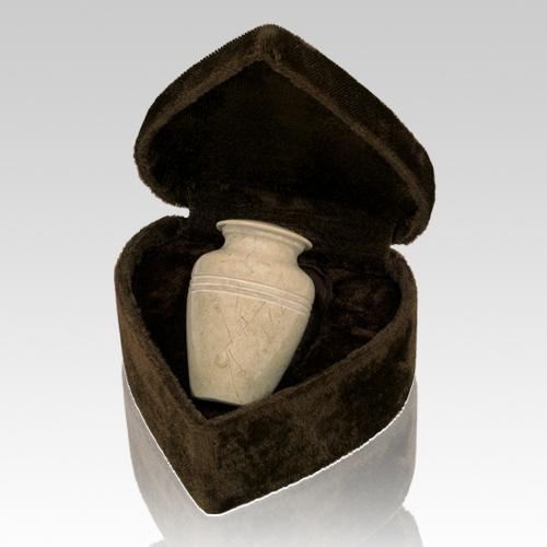 Mini Cream Keepsake Urn