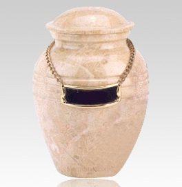 Cream Pet Marble Urn