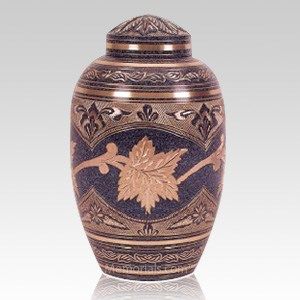 Patina Leaf Cremation Urn