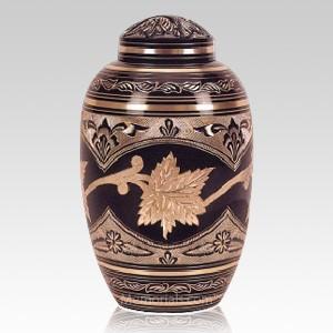 Black Toledo Leaf Cremation Urn