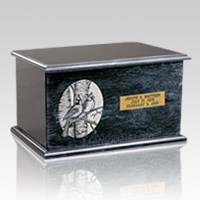 Evermore Black Marble Urn