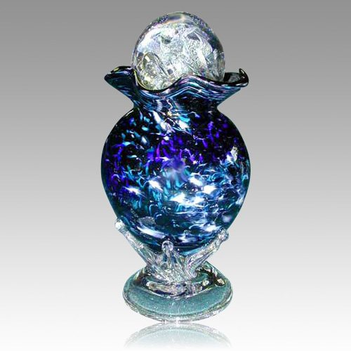 Crown Earth Glass Cremation Urn