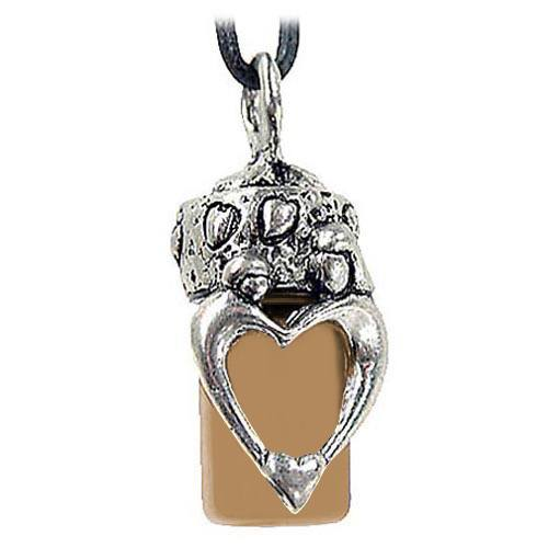 Mother & Child Brown Cremation Necklace