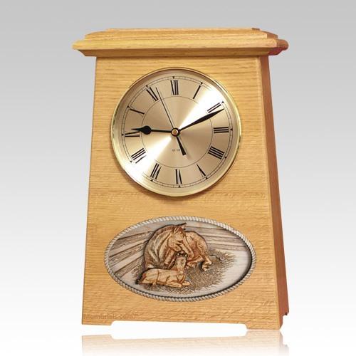 Daddys Love Astoria Clock Oak Cremation Urn
