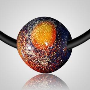 Distant Galaxy Cremation Ash Necklace II