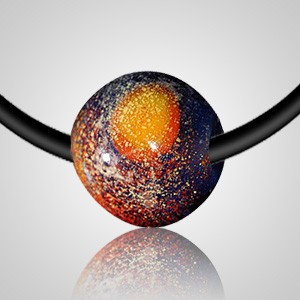 Distant Galaxy Cremation Ash Necklace