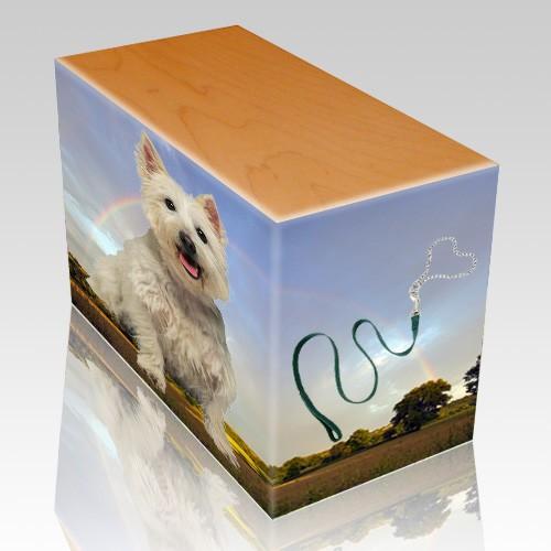 Rainbow Oak Pet Picture Urn III