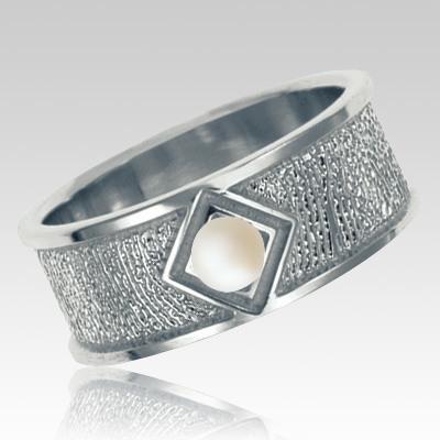 Pearl 14k White Gold Ring Print Keepsake