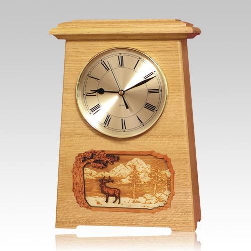 Elk Astoria Clock Oak Cremation Urn