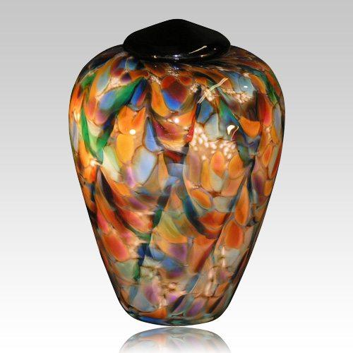 Color Blast Glass Cremation Urn