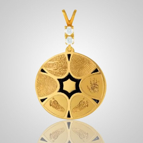 Family 6 Print 14k Yellow Gold Keepsake