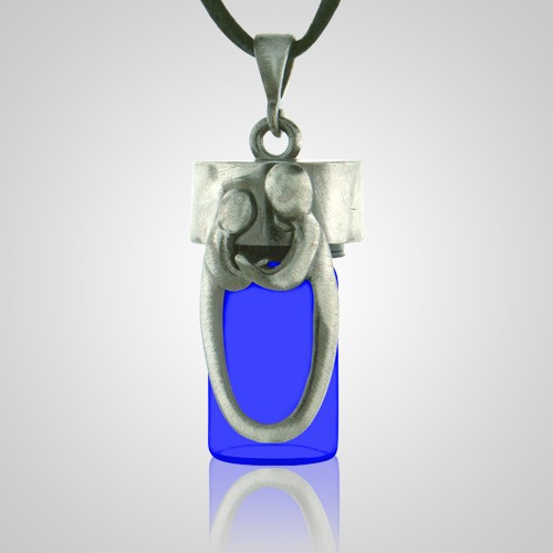 Daddy & Child Blue Cremation Necklace