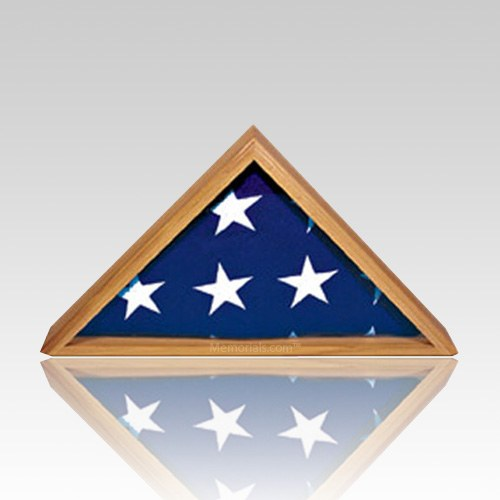 Tribute Oak Flag Display Case