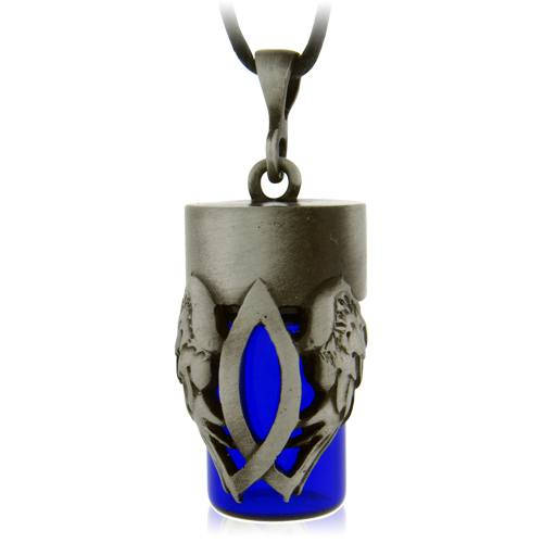 Christian Blue Cremation Urn Necklace