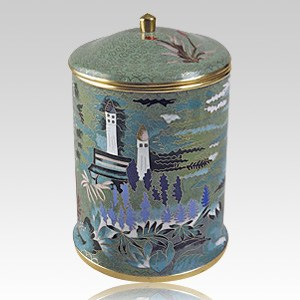 Garden Cloisonne Cremation Urn