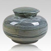 Glacier Marble Cremation Urn